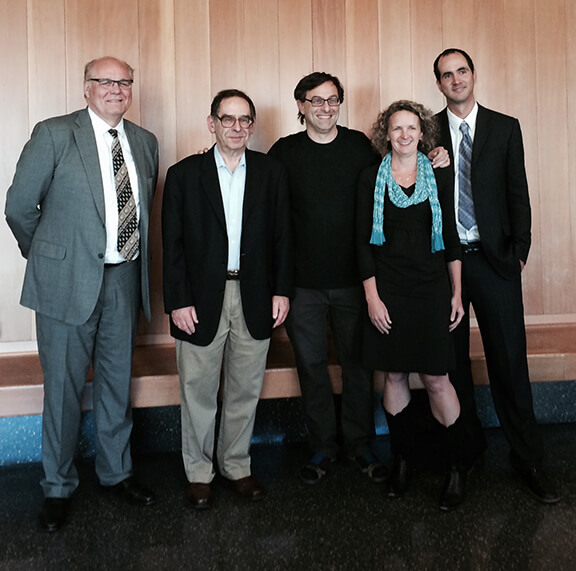 BrainMIC Speakers (left to right): James Sharp, Steven Martin, Ehud Isacoff, Holly Aaron, and Sharif Taha.