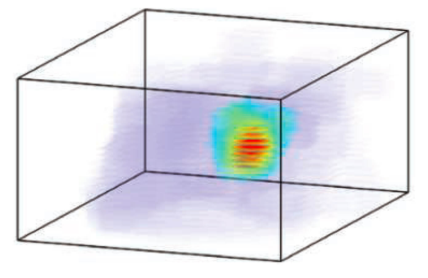 3D place field of a single hippocampal place cell recorded from a freely flying bat. In his 2013 Science paper, Yartsev showed that each place cell reliably discharged when the bat flew through a specific field of space. Collectively, the 3D place fields of all recorded place cells spanned the available space in the room. Click image to go to paper.