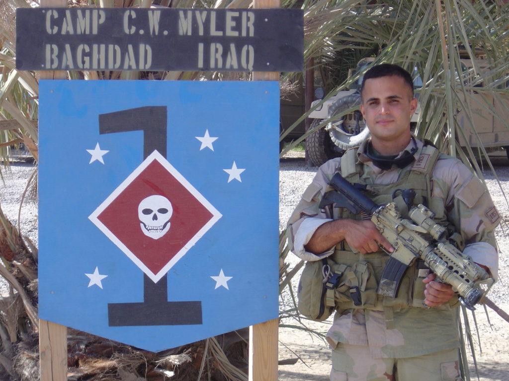 Vazquez serving in Iraq.